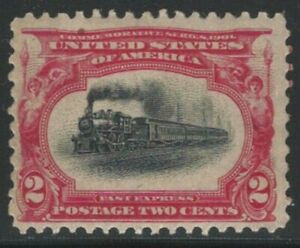U.S.,1901, Scott #295, 2c Pan American, 2c carmine & black, Mint, Never Hinged