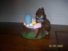 "Bunny Rabbit in Nest with Eggs 4"" x 4-1/2"""