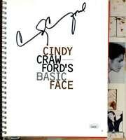Cindy Crawford JSA Coa Signed Basic Face Book Autograph