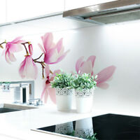 Küchenrückwand Magnolien Zweig Premium Hart-PVC 0,4 mm selbstklebend