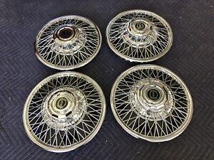 Blem 13 inch Metal wire spoke hubcaps wheel covers Nova Falcon Datsun Toyota