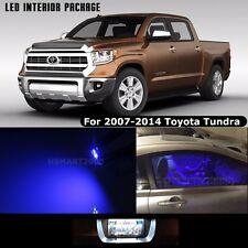 14PCS Blue LED Interior Bulbs Package 2011 Toyota Tundra White for License Plate