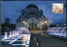 0819 SERBIA 2015 - Temple St.Sava  Belgrade - Architectura - Maximum Card - MC
