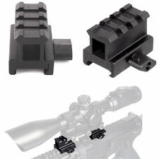 Tactical 3-Slots High Profile Riser Mount for Rifle Gun Picatinny Rail Mount