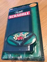Magnetic Pocket SCRABBLE Travel Bag Family Board Game Hidden Tile Drawers NEW