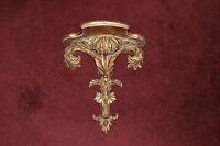 Victorian Style Rococo Gilded Leaf Wall Shelf-Large Shelf W/Leaf Accents-Gold