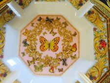 """VERSACE ASHTRAY BUTTERLY LE JARDIN ROSENTHAL  9"""" / 23cm  NEW IN BOX RETAIL $550"""