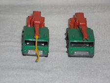TWO MATCHBOX LESNEY NO 30 8 WHEEL CRANE GREEN