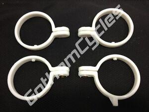 OEM Ducati Front Fork Fender White Plastic Clamp Clip Set 800070127 800070133