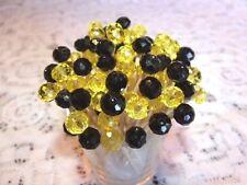 Crystal Black Yellow Maryland Preakness Wedding Toothpicks Party Food Picks