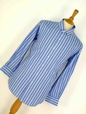 MENS POLO RALPH LAUREN PHILIP BLUE STRIPED SMART STYLE COTTON SHIRT L