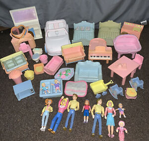 Playskool Dollhouse Loving Family Vintage 1990s Lot Dolls Furniture Accessories