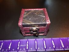 Treasure Chest Jolly Roger Wood Jewelry Storage Mini Trinket Box