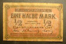 GERMANY, LITHUANIA, LATVIA, 1918 1/2 mark