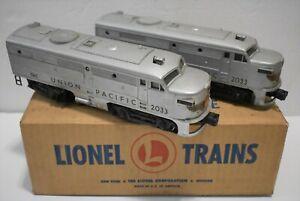 Twin Lionel Post War 2033 Silver Union Pacific Set 1952-54 w/Master Carton jm11