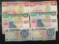 SINGAPORE PAPER MONEY - LOT OF 8 CIRCULATED BANKNOTES!