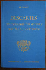 DESCARTES BIBLIOGRAPHIE DES ŒUVRES PUBLIEES AU XVIIIeme siecle, GUIBERT1976
