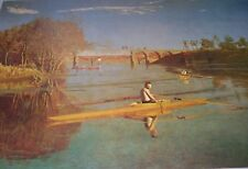 MAX SCHMITT IN A SINGLE SCULL Thomas Eakins Color Print American Artist