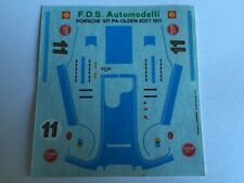 PORSCHE 971 PA-OLDEN KOTT 1971 DECALS decal 1/43