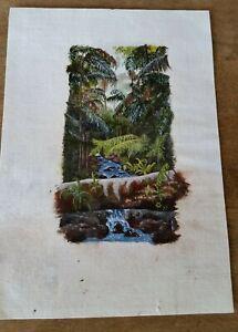 Marion Winter original miniature painting Rainforest Nixon Creek 1997