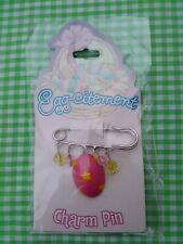 Cute Pink Easter Egg Brooch Pin