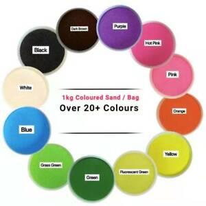 Aquarium Coloured Sand 1kg Bag All Color Sand for /Home/Party/Wedding/Craft/Art