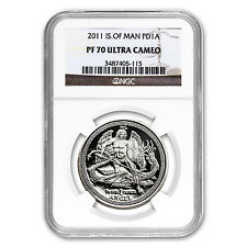 2011 Isle of Man 1 oz Proof Palladium Angel PF-70 NGC - SKU #63743
