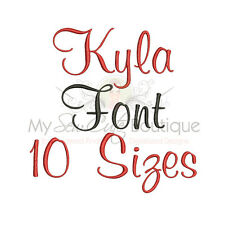 Kyla Alphabet Embroidery Fonts Machine Embroidery Design - IMPFCD51