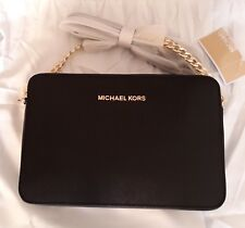 MICHAEL KORS BORSA JET SET TRAVEL LG CROSSBODY NERA ea99f013733