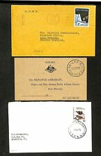PAPUA NEW GUINEA 1955/67    3 x CV    = LAE  =    DESTINATION!!  VF