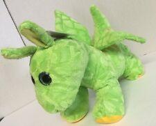 """Dinosaur Dragon Plush Stuff Animal Green Small Boys Toy Gift 11"""""""