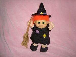 "Russ Troll Witch 11"" Plush W/PVc Head Orange Hair"