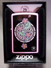 """Zippo """"Anne Stokes"""" Pink Flowers-Pink-nuevo embalaje original & - #609"""