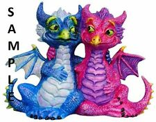 DRAGON Couple hugging W-ATTITUDE READY TO PAINT CERAMIC BISQUE