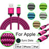 New 1/2/3M Braided iOS Charger Data Cable For Apple iPhone 5/C/SE/S 6/S 7 8/Plus