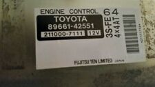 99-00 RAV4 4x4 AT CALI ECU ECM PCM Engine Control Unit Computer 89661-42551 OEM