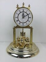 Schatz Day Clock vintage Clock Made In West Germany Pendulum Clock Gold Color