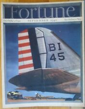 Fortune Magazine Cover, Aviation, Tail Wing, Vintage 1940 Antique Art Print