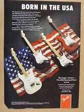 vintage magazine advert 1988 FENDER - BORN IN THE USA