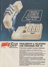 X3129 SIP il telefono che risponde per te - Pubblicità d'epoca - 1984 vintage ad