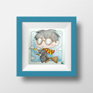 Harry Potter Chibi Art - Quidditch ver. - Original & Signed Illustration