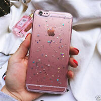 Bling Transparent TPU For iPhone SE 6s 7 Plus Shockproof Glitter Star Case Cover