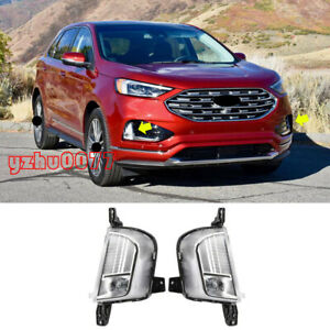 2019 2020 For Ford Edge LED Front Bumper Fog Lights Assembly Left Right 2pcs