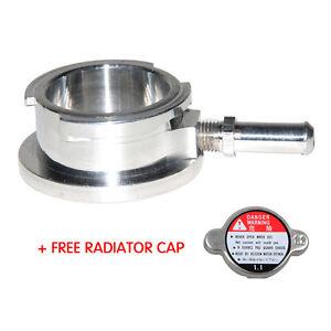 "32mm 1-1/4"" Aluminum Weld On Radiator Filler Neck Billet With Cap"
