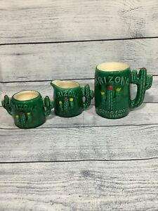 Vintage Arizona Sugar Bowl Creamer Cup Mug Cactus Grand Canyon