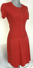 New - THEORY Short Sleeve Fit & Flare Cashmere Blend Sweater Dress - $295 Small