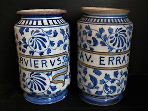 *1140*  paire de pot à pharmacie ancien  papav.erratic  nevers ?