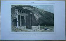 1845 print TEMPLE OF SALSETTE, KANHERI CAVES, GREATER BOMBAY, INDIA (#26)