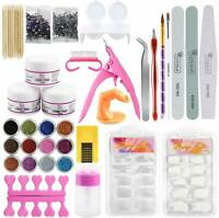 Profession Acrylic Nail Kit Nail Powder Glitter Art Manicure Tool Tips Brush Set