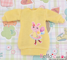 ☆╮Cool Cat╭☆【PR-68】Blythe Pullip Clothes Frock Gown(Rabbit)# Yellow